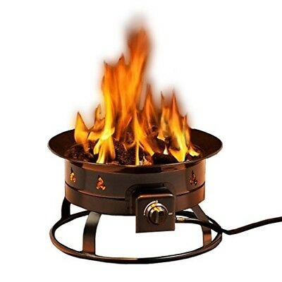Outdoor Fire Pit Propane Portable Campfire Backyard Patio Heater Tailgating Deck