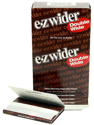 One (1) Box of E-Z Wider Double Wide Cigarette Rolling Papers -78mm 24 Booklets