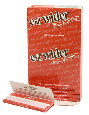 One (1) Box of E-Z Wider Slow Burning Cigarette Rolling Papers - 24 Booklets