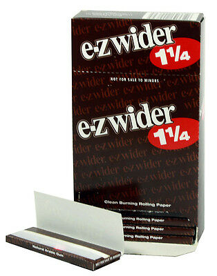 One (1) Box of E-Z Wider 1 1/4 Cigarette Rolling Papers - 78mm - 24 Booklets