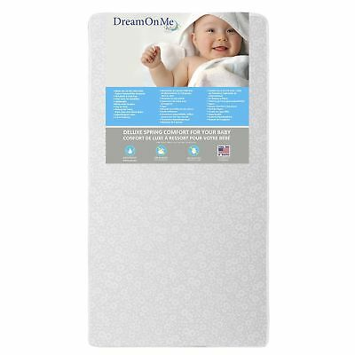 """Dream On Me Full Size Firm Foam Crib and Toddler Bed Mattress, Little Baby, 6"""""""
