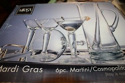 Mikasa mid century modern Hollywood Regency martini  cosmopolitan bar set NOS