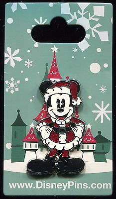 Pie Eyed Classic Mickey Mouse in Santa Suit Christmas Holiday Disney Pin 118927