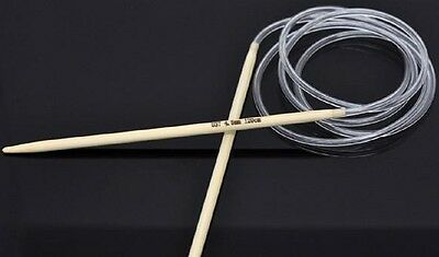 circular bamboo knitting needles 120cm long various sizes from 2mm to 10mm