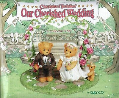 "Cherished Teddies ""Our Cherished Wedding"" figurine by Enesco"