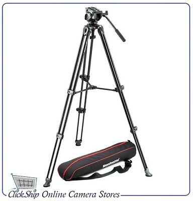 Manfrotto MVK500AM Tripod Kit MVH500A Fluid Drag Video Head with MVT502AM Legs