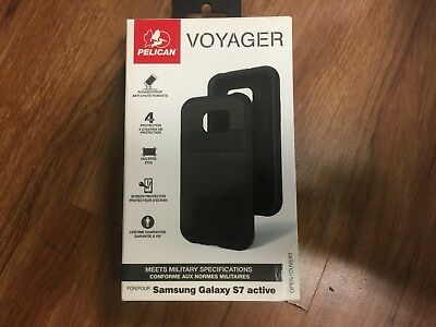 Pelican Voyager Rugged Case + Holster for Samsung Galaxy S7 Active (ONLY) BLACK