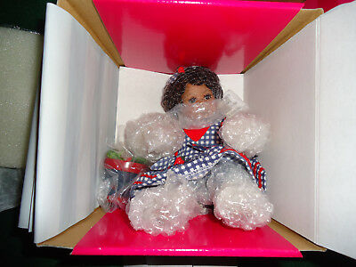 Marie Osmond Stacey Strawberry Fruit Cup Tiny Tot Porcelain Doll Coa New In Box