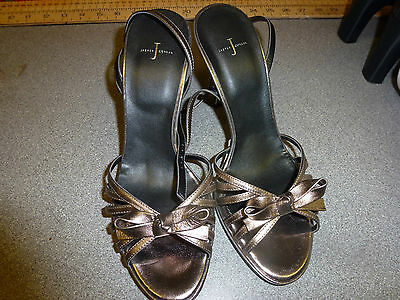 A Pair Of Jasper Conran Size 6 Pewter Shoes Brand New