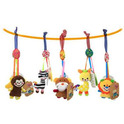 Baby Newborn Rattles Plush Animal Stroller Hanging Bell Play Toy Doll Crib Bed