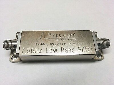 Pulse Labs Picosecond 7.5 GHz Low Pass Filter 5915-100-7.5GHz
