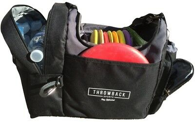 The Throwback Sack - Frisbee Disc Golf Bag with Cooler and Extra Padding,
