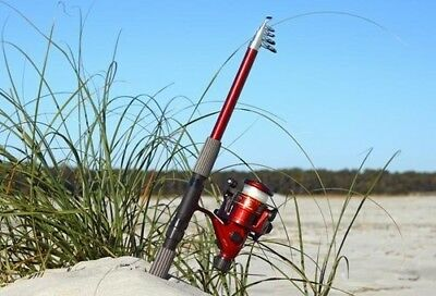 5 Foot 18cm 1.8 M Telescoping Fibreglass Rod and Reel Combo by FTUSA