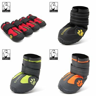 True Love 4 Pcs Protector Pet Dog & Cat Shoes Boots Waterproof Anti-Slip Paw