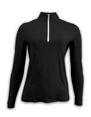 (X-Large, Black/White) - Tailored Sportsman Ladies IceFil Zip Top. Brand New