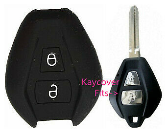 Black Silicone Car Key Cover Case Suits Isuzu Dmax D Max Truck Ute