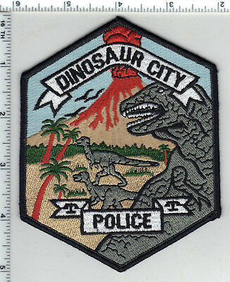 Dinosaur City Police (Colorado) Shoulder Patch - new from the 1980's