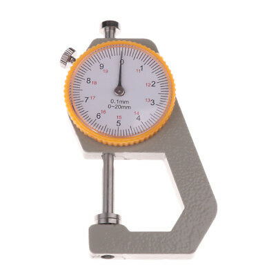 Thickness Round Dial Gauge Gage Tester Leather Craft Measure Tool 0-20mm