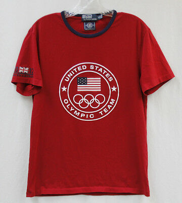 Ralph Lauren Polo 2012 United States Olympic USA Team Red T-Shirt Sz M
