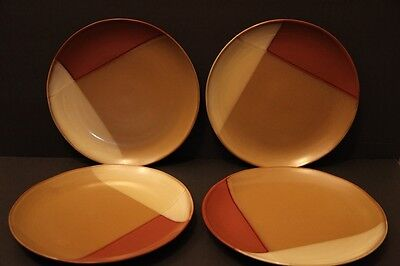 "Sango GOLD DUST SIENNA 10 3/4"" Dinner Plates Set Lot of 4"