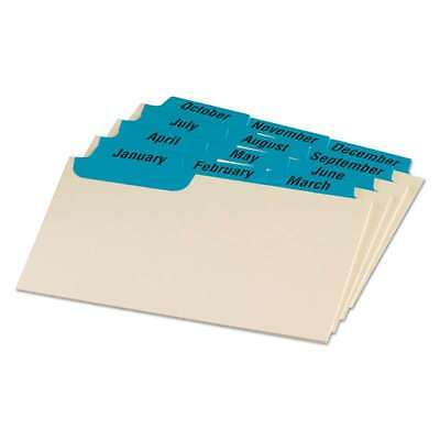 Oxford Laminated Index Card Guides, Monthly, 1/3 Tab, Manila, 3  078787035133