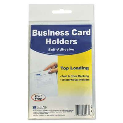 C-Line® Self-Adhesive Business Card Holders, Top Load, 3 1/2 x 2, 038944702575
