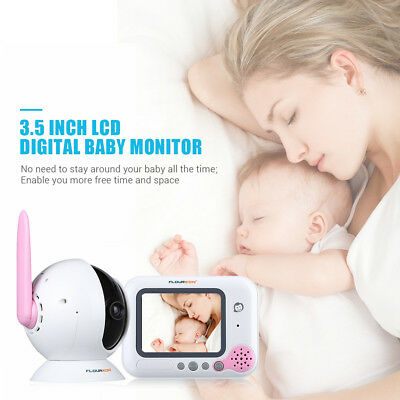 "Floureon 3.5""LCD screen Digital FHSS technology Baby Monitor 2 way communication"