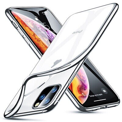 For Apple iPhone 11 Pro Max X 8 7 Shockproof Plating Ultra Slim Clear Case Cover