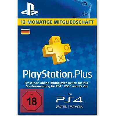 de playstation plus 365 tage 1 jahr karte card sony psn. Black Bedroom Furniture Sets. Home Design Ideas