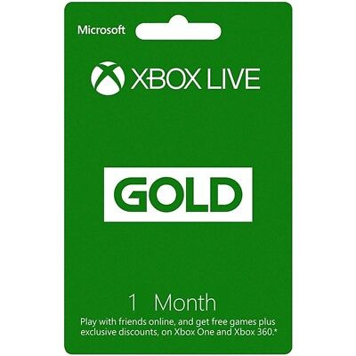 1 Month Xbox Live Gold Membership Subscription Card -[AU]-FAST DISPATCH