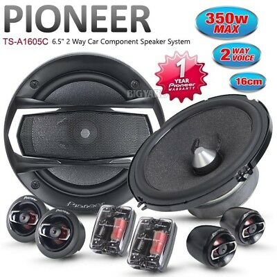 """New PIONEER TS-A1605C 6.5"""" 17cm 350W 2 Two Way Car Component Speakers System Set"""