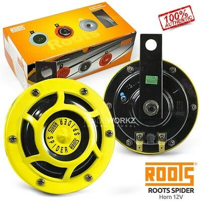New & Genuine ROOTS Spider HELLA Supertone Yellow 12V Universal 4x4 UTE Car Horn
