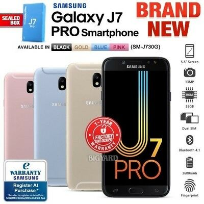 New Unlocked SAMSUNG Galaxy J7 Pro J730G Black Gold Blue Pink Android Smartphone