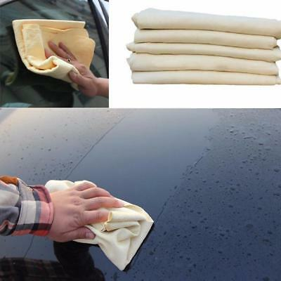 90CM Natural Chamois Leather Car Cleaning Washing Absorbing Drying Cloth Towel