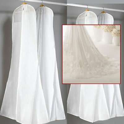 White Extra Large Wedding Dress Bridal-Gown Garment Breathable Cover Storage Bag