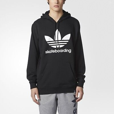 c56fe24b Adidas Clima 3.0 Pullover Skateboarding Hoodie Black White Size S Small