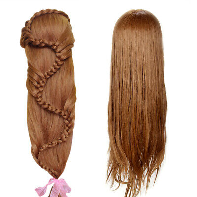 "26"" 30% Real Hair Practice Training Head Mannequin Hairdressing Doll + Clamp UK"