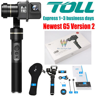 Genuine Feiyu G5 V2 3-AXIS Handheld Gimbal Stabilizer for GoPro Hero 6 5 4 3+ 3