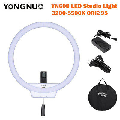 YongNuo YN608 LED Studio Ring Light 3200K~5500K Wireless Remote Video Light