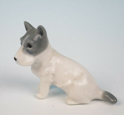 Antique German Porcelain Schnauzer Figurine Dog Figure Puppy Terrier Miniature