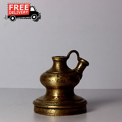1800's Vintage Brass Fish Shaped Beautiful Mughal Hookah Pot Indian Arts 1552