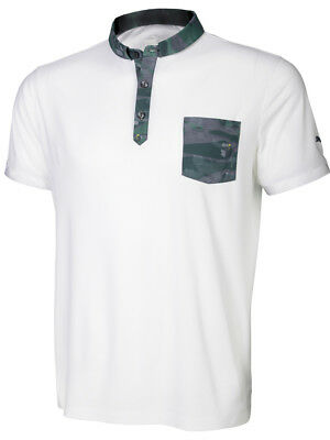 Puma Tailored Flagstick Camo Polo - Bright White/Green Camo
