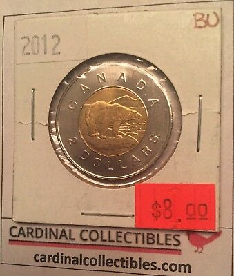 2012 Canadian $2 Toonie in BRILLIANT UNCIRCULATED (BU) Condition