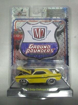 M2 Machines Ground Pounders 1970 Dodge Challenger R/T Yellow 10-21