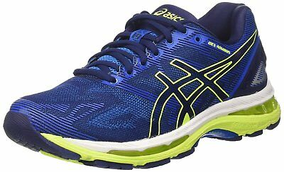 Asics Gel Nimbus 19 Men's Running Shoes Blue Green Gel Cushioned Trainers Sizes