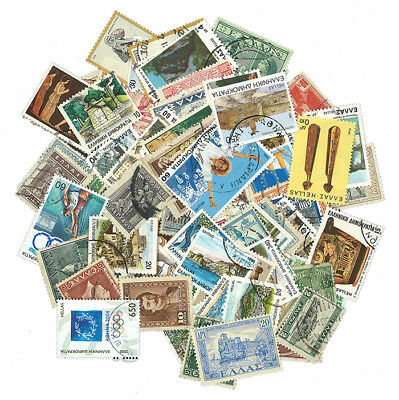 Greece - 100 Different Stamps [43737] + Free Gift