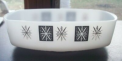 Vintage Federal Glass Atomic Age Loaf Pan Oven Ware