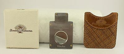 scarce TOMMY BAHAMA Stainless CIGAR CUTTER w/ Pouch & Box MINT watch collectible