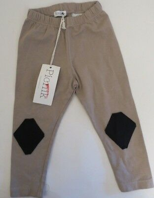 New Picnik Unisex Baby Nude Leggings With Patch By Knee Size 6 Months
