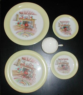 Homer Laughlin Eggshell Swing Colonial Kitchen Dinner & lunch Plate, cup-saucer